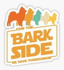 Join The Bark Side - Retro Pomeranian Dog Lover Gifts Sticker