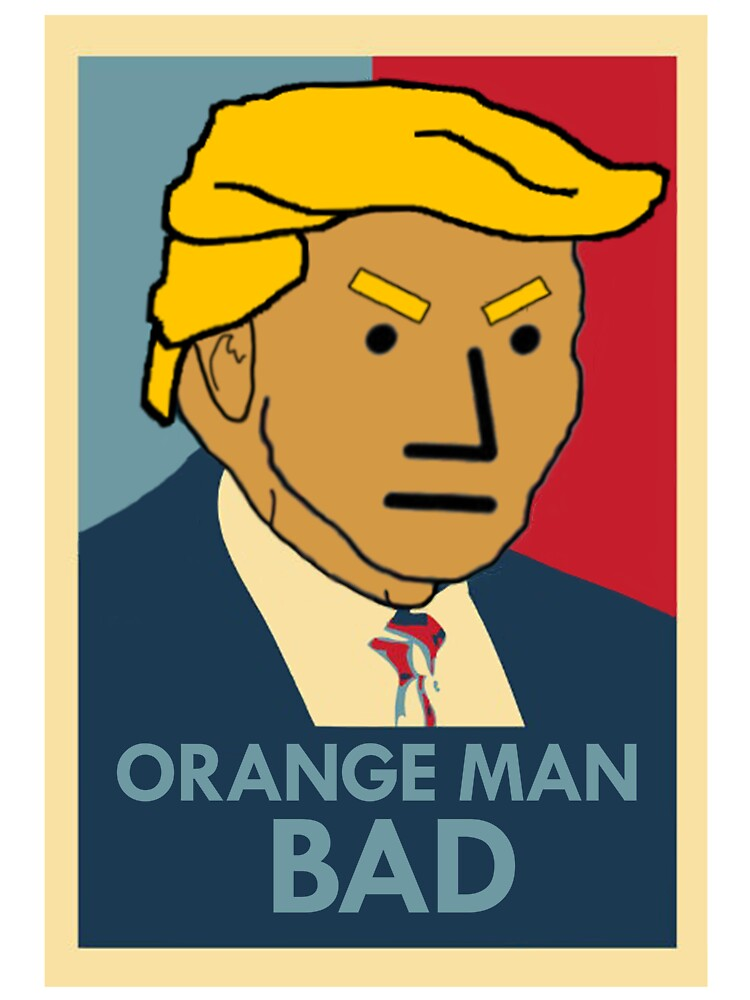 "Orange Man Bad"" Baby One-Piece by Vulfis 