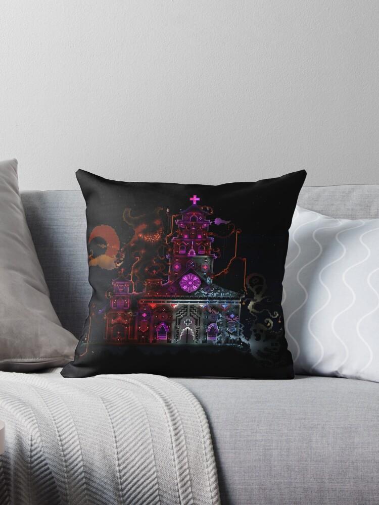 'Terraria Haunted Castle' Throw Pillow by natyhiga