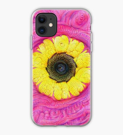 Sunflower on pink #DeepDream iPhone Case