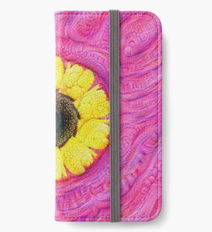 Sunflower on pink #DeepDream iPhone Wallet