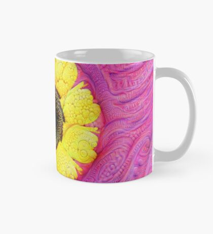Sunflower on pink #DeepDream Mug