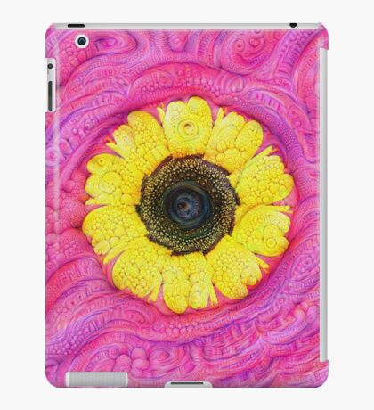 Sunflower on pink #DeepDream iPad Case/Skin