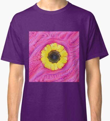 Sunflower on pink #DeepDream Classic T-Shirt