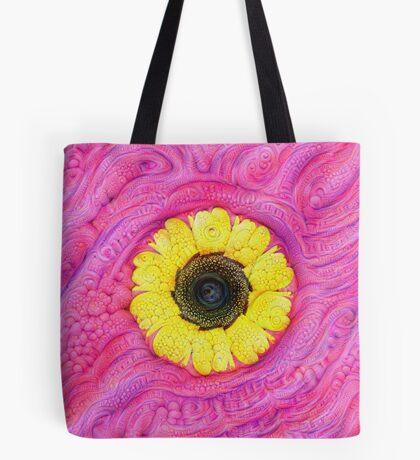 Sunflower on pink #DeepDream Tote Bag