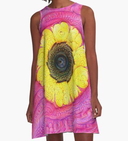 Sunflower on pink #DeepDream A-Line Dress