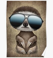 sloth sunglasses posters redbubble