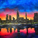 NYC Sunset by Russell Halsema