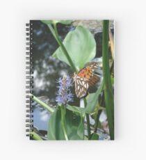 GULF FRITILLARY ON PICKEREL WEED Spiral Notebook