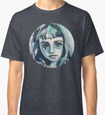 Mia - abstract painted portrait of a thinker #1 Classic T-Shirt