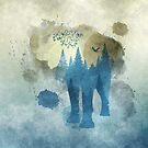 Abstract Elephant - Double Exposure by Kyle Gransaull