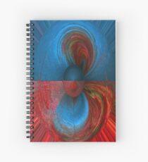 Paleta en azul y rojo I Spiral Notebook