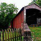 A Covered Bridge to Nowhere (built 1866) by Jane Neill-Hancock