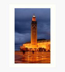 Hassan II Mosque Art Print