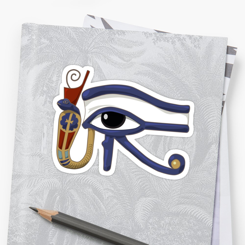 The Eye of Ra: Wedjet Lower Egypt Sticker