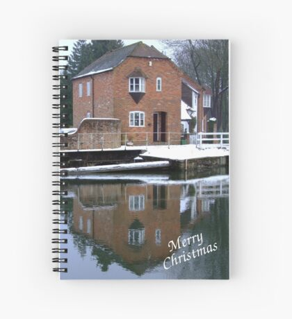 Reflections - Christmas Card Spiral Notebook