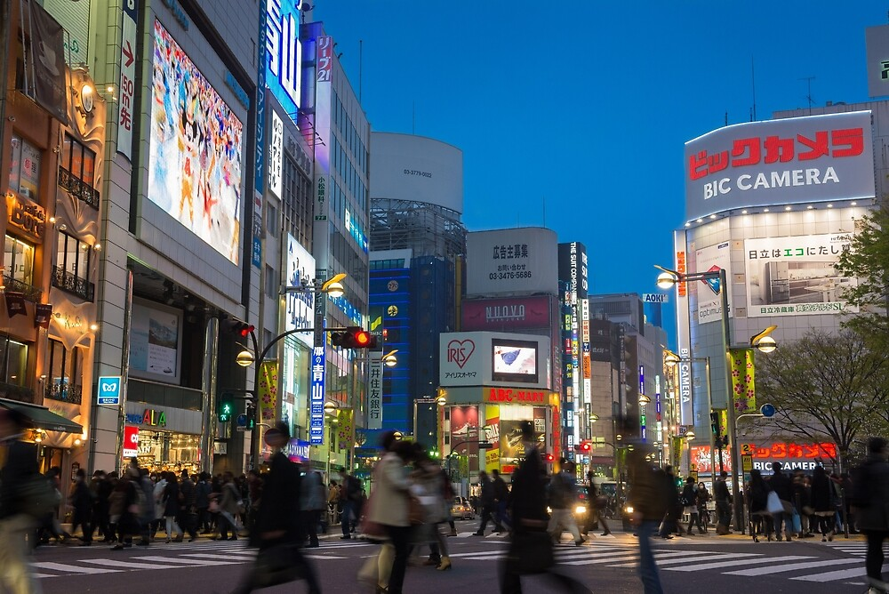 Shinjuku Pedestrian Crossing by Mark Eden