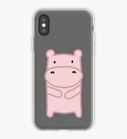 Pink Hippo iPhone Case