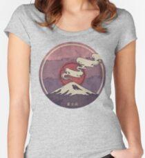 Fuji Tailliertes Rundhals-Shirt