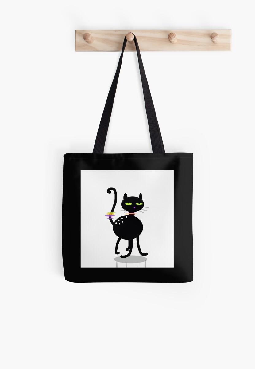 Black kitten,  whimsy art by ackelly4