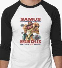 Samus says It's OK to kill brain cells Men's Baseball ¾ T-Shirt