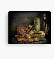 Still Life Vegetables  Canvas Print
