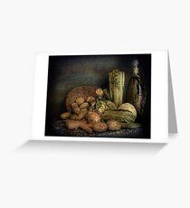 Still Life Vegetables  Greeting Card