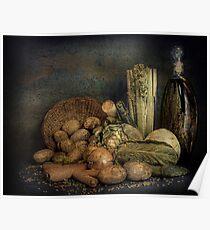 Still Life Vegetables  Poster