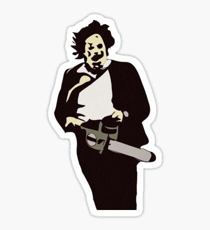 Leatherface Texas Chainsaw Massacre  Sticker
