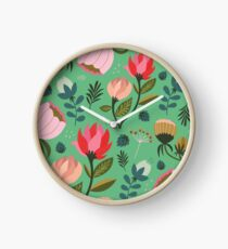 Pretty Florals Clock