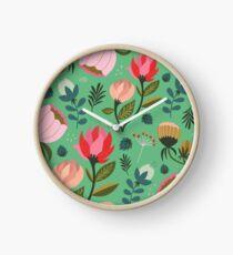 Hübsche Blumen Uhr
