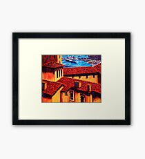 The Red Roofs of Monaco Framed Print