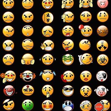 Emoji Smiley Emoticons Pattern by Loredan