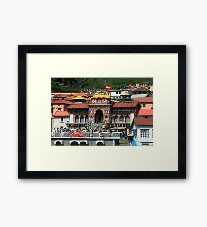 Front View of Badrinath Temple Framed Print