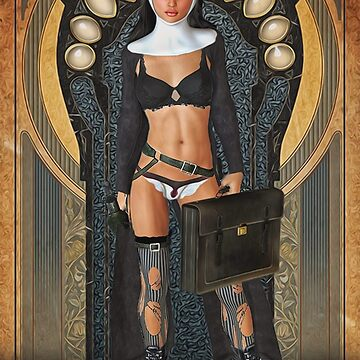 Sexy Goth Nun by Loredan