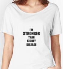 Kidney Disease Awareness Survivor Hope Cure Inspiration Stronger Than Women's Relaxed Fit T-Shirt
