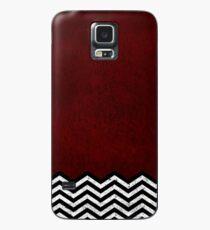 Red Chevron Hülle & Klebefolie für Samsung Galaxy