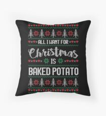 Cojín All I Want For Christmas Is Baked Potato Ugly Christmas Sweater