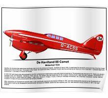 De Havilland Comet Racer Poster