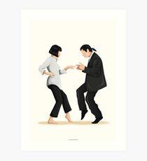 Pulp Fiction Twist Dance | Pop Culture Art Art Print