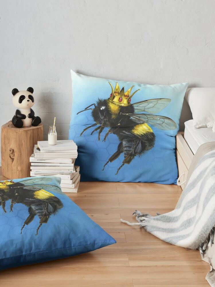 Alternate view of Queen Bee Floor Pillow