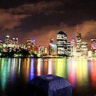 Rainbow city - Brisbane by GeoffSporne