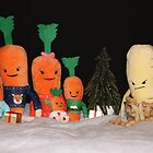 Kevin the Carrot & Family by AnnDixon