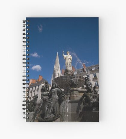 Fountain on Place Royale Spiral Notebook