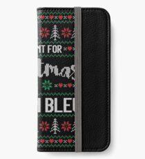 Vinilo o funda para iPhone All I Want For Christmas Is Cordon Bleu Ugly Christmas Sweater