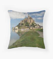 Mont Saint Michel Throw Pillow