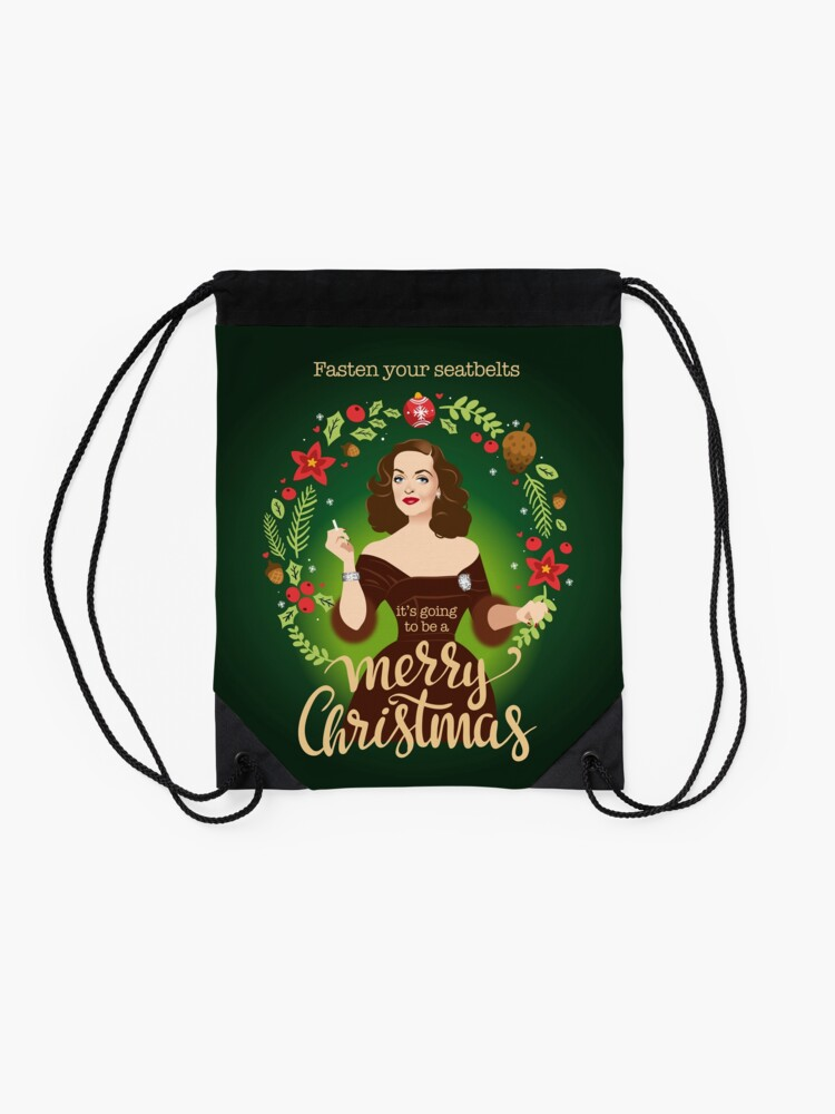Alternate view of Bumpy Christmas Drawstring Bag