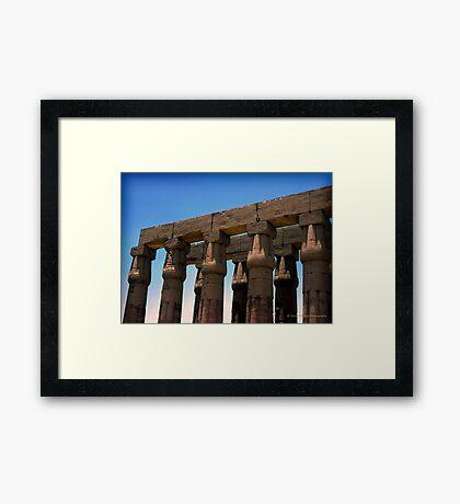 Karnak Temple Framed Print