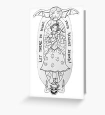 Haunted Lady in White Greeting Card