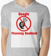 4Q T-Shirt . Style T3 Google Planning Backlash Mens V-Neck T-Shirt
